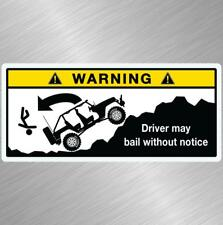 Jeep Warning Dick Beaters Decal Sticker Wrangler Cherokee Renegade Funny Offroad