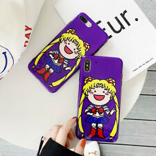 For iPhone X XS Max XR 6 7 8 Plus Funny Cartoon Sailor Moon Phone Case Cover