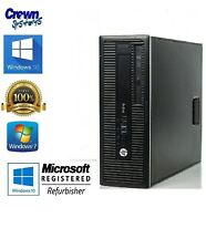 HP ProDesk 600G1 Business PC Intel Core i5-4570 3.2GHz 4GB 500B DVDROM Win 7 COA