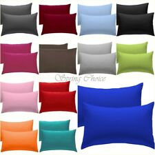 2X PILLOW CASE LUXURY CASES POLY COTTON HOUSEWIFE PAIR PACK BEDROOM PILLOW COVER