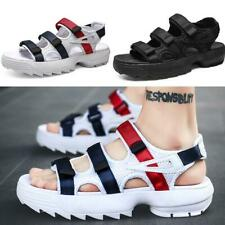 Summer Beach Men's Sport Sandals Shoes Flats Open Toe Slingback Straps Soft Chic