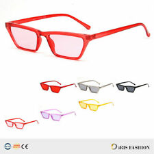 Small Cat Eye Fashion Women Sunglasses Flat Top Retro Vintage Clout Goggles