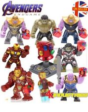 Avengers Lego Fit Figure With Red Gauntlet Thanos Iron Man Hulk Block UK Seller