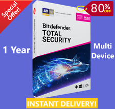 Bitdefender Total Security 2019 - 1 Years | Download Link | INSTANT DELIVERY