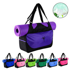 Yoga Mat Bag Tote Holder Waterproof Sport Duffle Carrying Gym Fitness Handbag