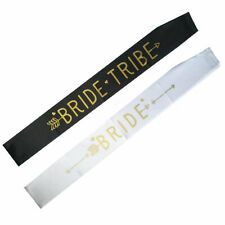 Hen Party Sashes Team Bride To Be Sash Wedding Girls Night Out Party Black/White