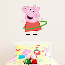 Peppa Pig with hula hoop wall sticker | Official Peppa Pig product |Stickerscape