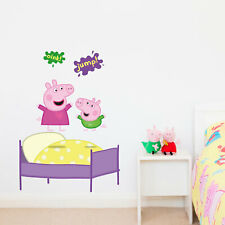 Peppa and George on the bed wall sticker | Official Peppa Pig product