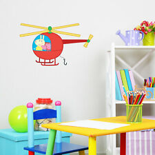Peppa Pig helicopter wall sticker | Official Peppa Pig product | Stickerscape