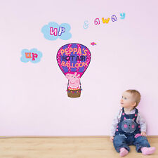 Peppa's hot air balloon wall sticker | Official Peppa Pig product | Stickerscape
