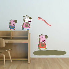 Peppa and Friends muddy puddles wall sticker | Official Peppa Pig product