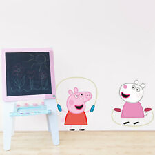 Peppa Pig and Suzy skipping wall sticker | Official Peppa Pig product