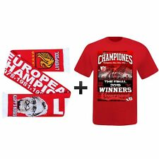 Liverpool Ultimate Fan 2019 (Madrid) Champions League Winners T-Shirt & Scarf