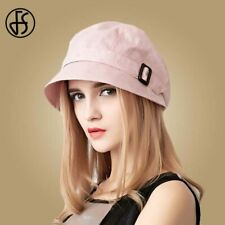 Cotton Summer Foldable Beach Hats Wide Brim Casual Visor Caps Femme Solid