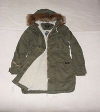 Womens Abercrombie & Fitch Fleece fur Sherpa Parka Hoodie Coat Jacket Size M, L,