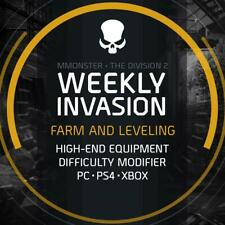 The Division 2 Weekly Invasion Boost Service Farm and Leveling PC/PS4/XBOX