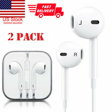 2 Pack For Apple iPhone XS MAX XR 8 7 Plus Headphones Earphones With Remote&Mic