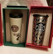Starbucks Quilted Stainless Steel Tumbler - Silver - 16oz  NIB   RARE!!!  2015