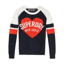 Pull Superdry Varsity Graphic Logo Knit Navy / Red