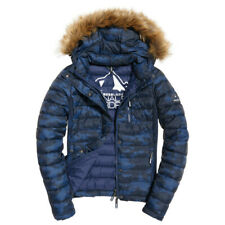 Doudoune Superdry Fuji Slim Double Zip Blue Camo