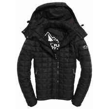 Doudoune Superdry Box Quilt Fuji Hooded Black