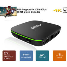 Android 7.1 1+8GB R69 H3 Quad Core Smart TV Box WIFI HDMI 4K Media Streamer