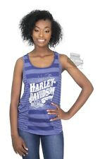 Harley-Davidson Women's Lilac Dealership T-Shirt Vest Preston England