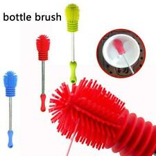 Bottle Brush Cup Scrubbing Silicone Kitchen Cleaner For Washing Cleaning X3Z6