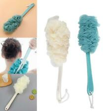 1x Thick Mesh Bath Ball Non-slip Long Handle Shower Scrubber Brush Bathroom Tool