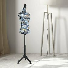 Height Adjustable Female Mannequin Torso Dress Form Display Stand
