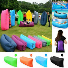 Air Sofa Bags Inflatable Lounger Beach Beds Lazy Chair Camping Sleeping Windbed