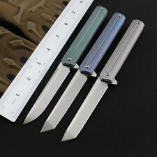 EDC tactical Combat TC4 titanium alloy Handle D2 Pocket Knife  Folding Knives