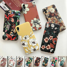 Retro Flower Pattern Matte IMD Soft Case Cover For iPhone XS Max XR X 6 8 7 Plus