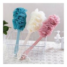 Bath Flower Shower Scrubber Loofah Sponge Bath Back Body Brush Long Handle GL