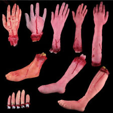 Haunted House  Latex Toys Lifesize Bloody Hand Halloween Costume Horror Props