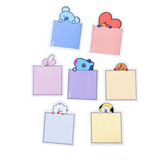 Kpop BTS BT21 Cute Sticky Notes Memo Pad Stickers Stationery