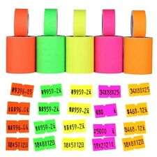 Colorful 500pcs/roll Price Label Paper Tag Mark Sticker For MX-5500 Labeller Gun