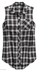 HARLEY-DAVIDSON - HDMC SLEEVELESS LADIES  PLAID SHIRT