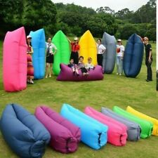 Inflatable Air Sofa Beds Lazy Sleeping Camping Bag Beach Hangout Couch Windbed