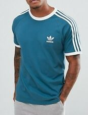 ADIDAS ORIGINALS mens t shirt tee top short sleeve crew neck retro BLUE M L XXL