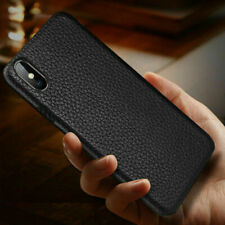 Leather Texture Rubber Case For iPhone Xs Max X XR 6s 7 8 Plus Soft Back Cover