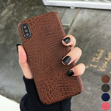 For iPhone Xs Max XR X 8 7 6 Plus Luxury PU Crocodile Leather Texture Case Cover