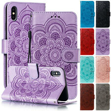 For iPhone XS Max XR 7 8 + Case Flower Magnetic Leather Flip Wallet Stand Cover