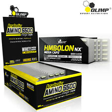 ANABOLIC AMINO ACIDS 5500 + HMBOLON- Muscle Mass Gain - Recovery - Fat Reduction