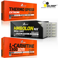 THERMO SPEED EXTREME + HMBOLON + L-CARNITINE - Fat Free Muscle Mass Build Combo