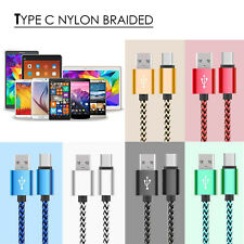 Type C Data Sync Charger Charging Cable Braided USB 1M for Samsung Google HTC UK
