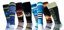 WackySox 6 Pairs for 4 Saver Pack Rugby Socks, Hockey Socks - Black and Blue