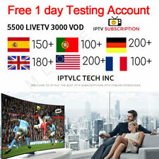 IPTV subscription 5500 channels HD Arabic Europe USA Germany Canada Italy Russia
