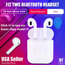 i12 TWS BLUETOOTH 5.0 Wireless Earbuds Headphones Airpods 1 2 For iphone Android
