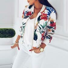 Plus Size Spring Women's Jackets Retro Floral Printed Coat Female Long Sleeve Ou